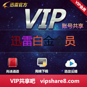 迅雷VIP账号共享 迅雷白金会员4月29日更新